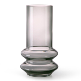 HK living glass vase smoked grey
