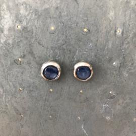 Jeh Jewels oorstekers zilver met kyaniet