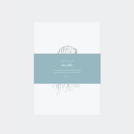 Inkylines postcard set, Sea