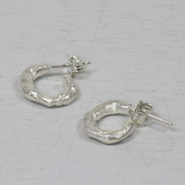Jeh Jewels earring studs silver hammered small