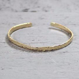 Jeh Jewels klem armband goldfilled hamerslag