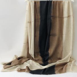 Denovembre sjaal Suite - beige + zwart