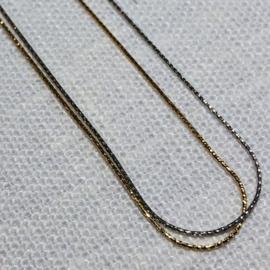 14 karaat goud collier dubbel
