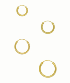 Flawed classic hoop Plain, goldplated (various sizes)