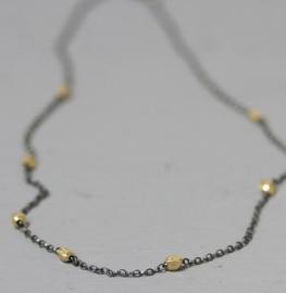 Jeh Jewels collier zilver oxy + goldfilled schakeltjes