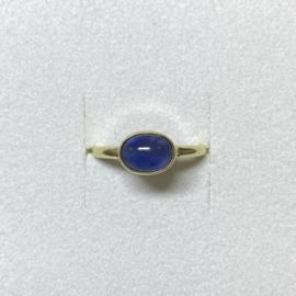 Ile d'Or ring 14 karaat goud en saffier