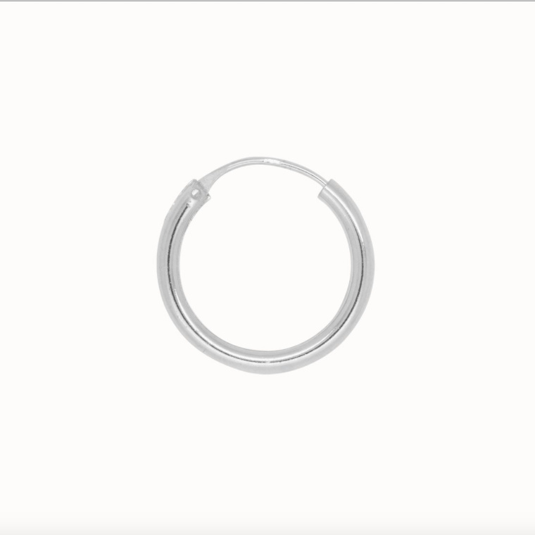 Flawed classic hoop Plain, silver (various sizes)