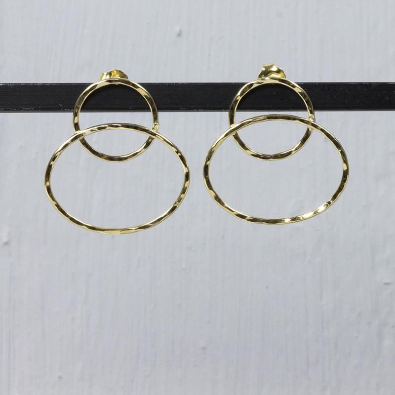 Jeh Jewels oorstekers goldfilled rondjes