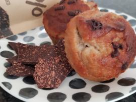 Bananenbrood chocolade muffins - glutenvrij suikervrij