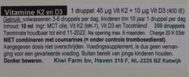 Kiwi farm - Vitamine K2 en D3 10ml