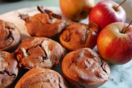 Ontbijtmuffins – appel/kaneel
