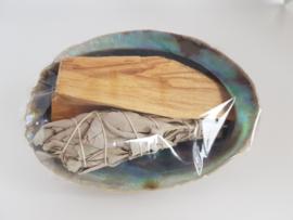 Abalone Smudge kit - met Salie en Palo santo