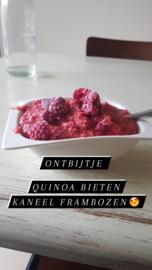 Quinoa ontbijt met bietjes en frambozen