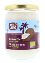 Ekoland extra virgin kokosolie 500ml in glazen pot