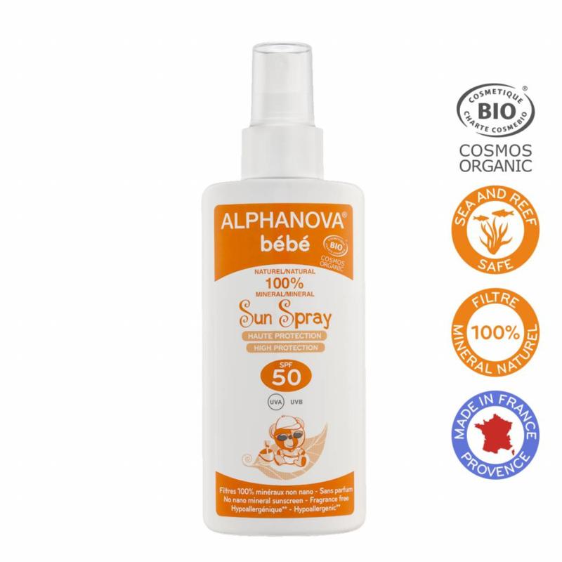 ALPHANOVA BABY SUN BIO SPF 50 SPRAY - 125G