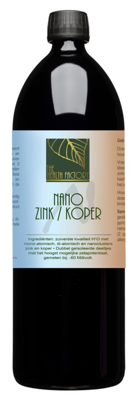 The health factory - Nano Mineralen Zink/Koper 1L