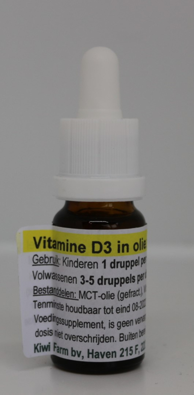 Kiwi farm - Vitamine D3 in olie 10 ug 400 EI - 10ml