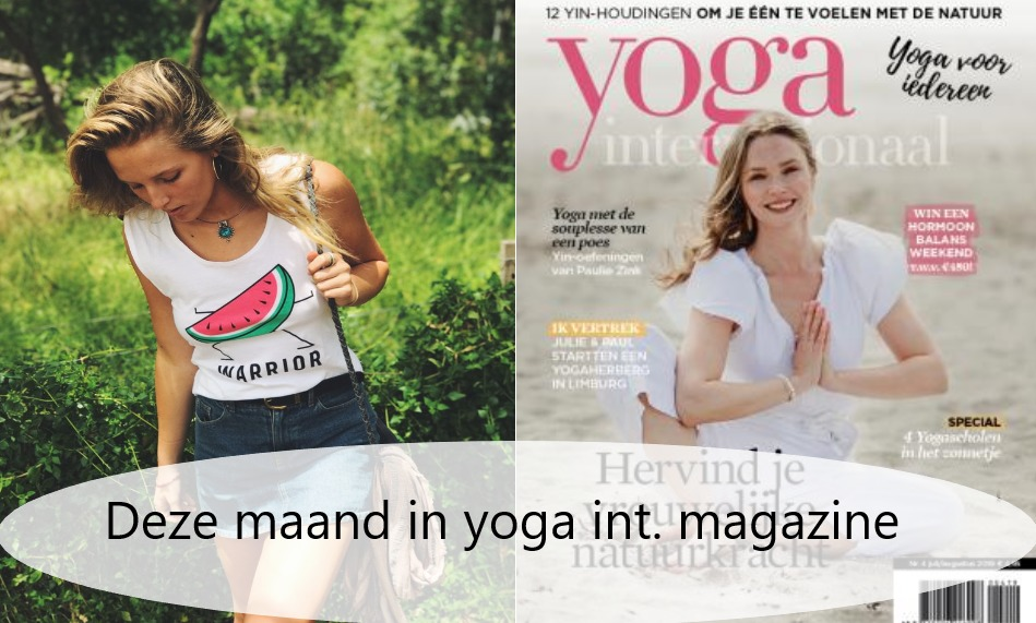 Warrior top in yoga magazine