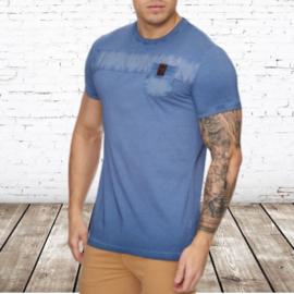 Heren t-shirt violento zacht blauw