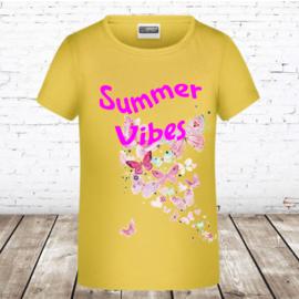 Meisjes T-shirt vlinders