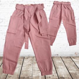 Zacht roze meisjes broek