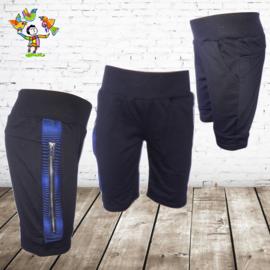 Jongens korte broek zwart blauw 2 98/104