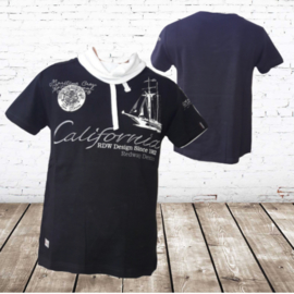 Heren t-shirt California zwart
