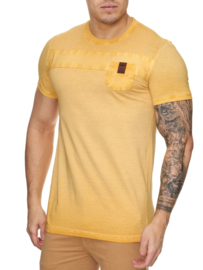 Heren t shirt violento zak geel 3XL