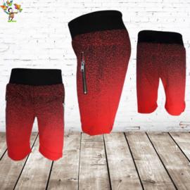 Jongens shorts rood 110/116