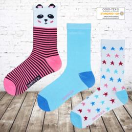 Meisjes sokken ster 12 paar voordeelpak