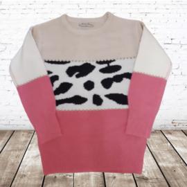 Meisjes trui met print  P807 roze