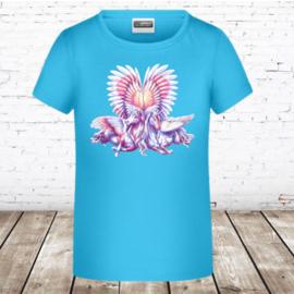 T-shirt eenhoorn blauw
