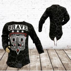 Jongens longsleeve Brave 99 zwart