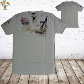 Heren t-shirt Ragatta wit 5XL