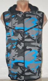 bodywarmer army blauw
