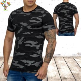 Camouflage shirt army 3178 zwart