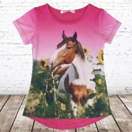 Paarden shirt zonnebloem