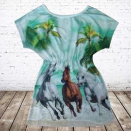 Paarden jurk beach mint