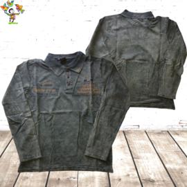 Heren Polo jeans groen M