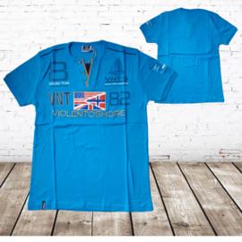 Shirt violento shore blauw