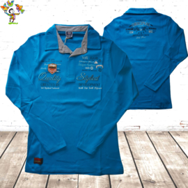 Herenpolo Quality aquablauw M