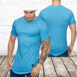 Heren t shirt blauw 9012 S