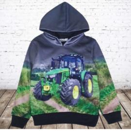 Grijze kinder hoodie met JD Trekker h130A