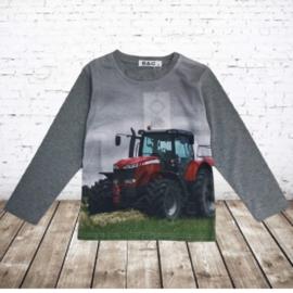 Trekker shirt met lange mouwen grijs H166