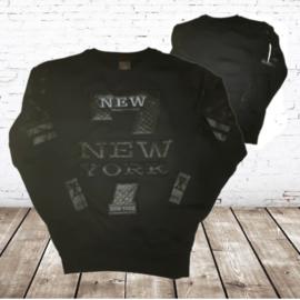 Zwarte heren sweater New York