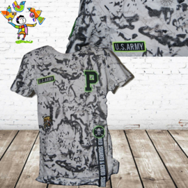 Jongens T-shirt US army zwart 16