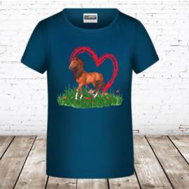 T shirt paard hart