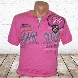 Heren t-shirt New York roze