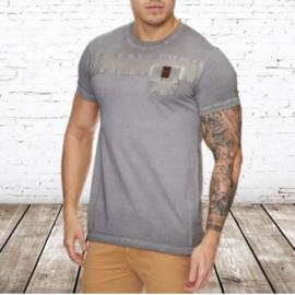 Heren t-shirt violento zacht bruin