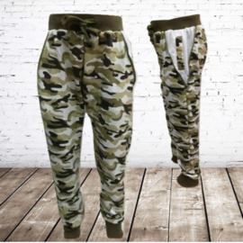Jongens camouflage broek  groen